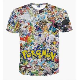 3 D Print T Shirt Pokemon Men's Top Tees