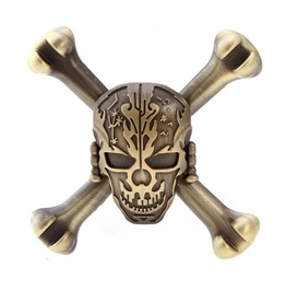 Metal Skull Fidget Spinner Bronze Toy