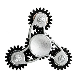 Gear Gold Silver Fidget Spinner Toy Steampunk