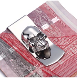 Skull Money Clip Stainless Steel Men's