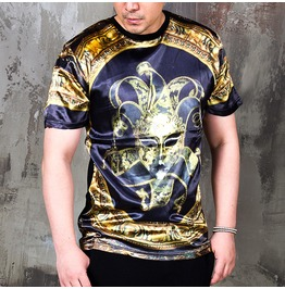 Gold Masquerade Mask Graphic T Shirts 732