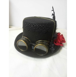 Womens Victorian Top Hats Steampunk Gothic Lace Hats