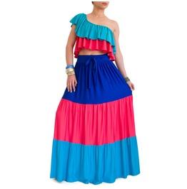 Boho Skirt Maxi Skirt Long Tiered Skirt Bohemian Skirt