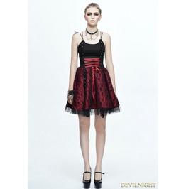 Spaghetti Straps Gothic Punk Skull Dress Skt052