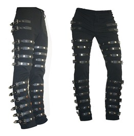 Punk Classic Rivet Pant Michael Jackson Gothic Bad Concert Black Metal Rock