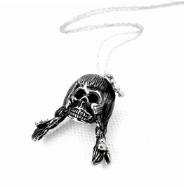 Virgin Skull For Virgo Zodiac Pendant Collection White Bronze