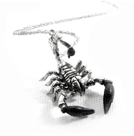 Scorpion For Scorpio Zodiac Pendant Collection White Bronze
