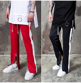 Side Stripe Zipper Accent Track Sweatpants 265