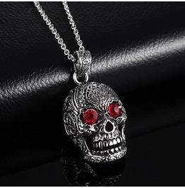 Hypnot Eyes Stainless Steel Goth Skull Chain