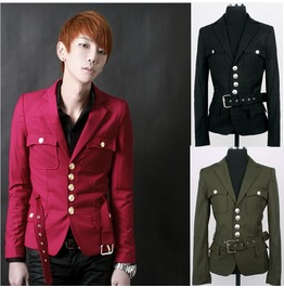 Fashion Men Stylish Coat Korean Blazer Slim Fit Fashion Button Jacket