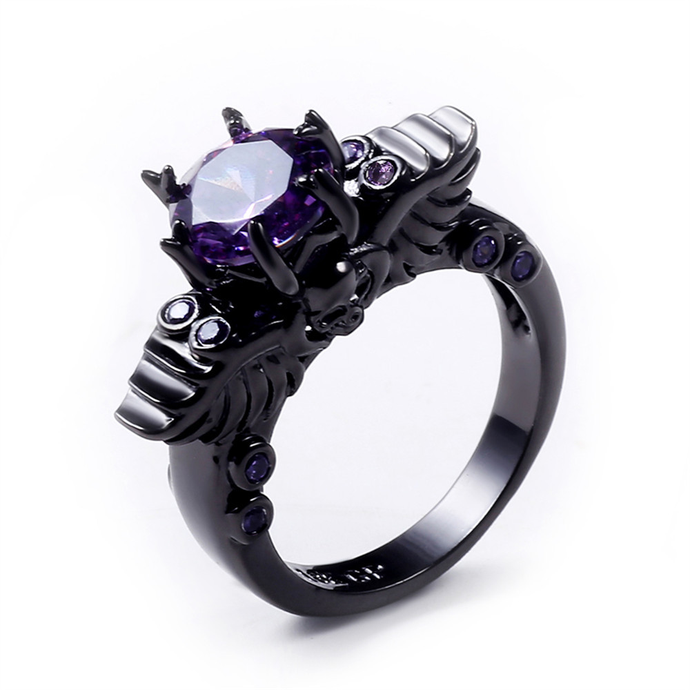 jewelry hot punk plated skeleton halloween rings product sales silver