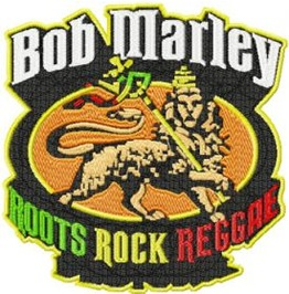 Embroidered Bob Marley Roots Rock Raggae Patch Iron/Sew On