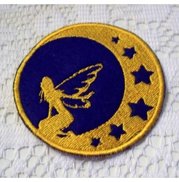 Embroidered Moon Fairy And Stars Iron/Sew On Patch