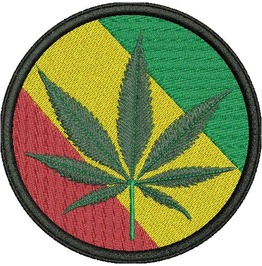 Embroidered Cannabis Patch Iron/Sew On Style