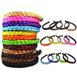 Bohemian French Braid Plait Braided Weave Hair Wide Hoop Headbands