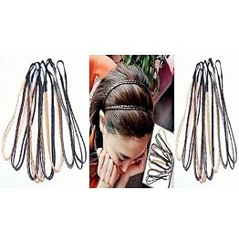 Bohemian Boho Double Plaited Braided Weave Braid Wrap Hairband Headbands