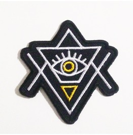 Embroidered Eye Of Providence Illuminati Iron On Patch.