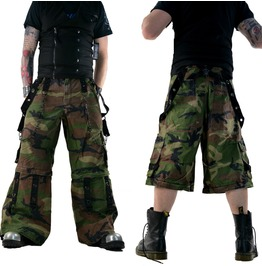 Men Camouflage Tripp Gothic Trouser Pant Punk Camo Skate Army Baggy Goth Sh
