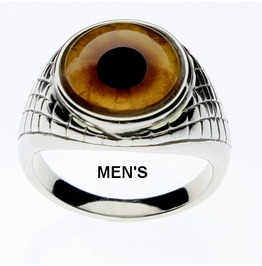 Lion Eye Ring | Lion Glass Eye | Unisex Ring | Men's Ring | Lion Jewelry