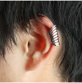 Unisex Coil Back Ear Wrap Silver Or Gold