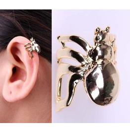 Unisex Beetle Bug Ear Wrap ~ Silver Or Gold