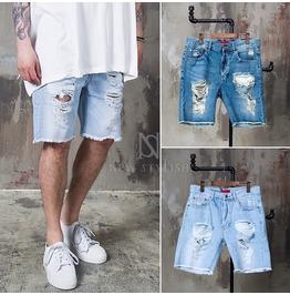 Heavily Distressed Vintage Denim Shorts 78