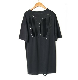 Women's Beads Hollow Out Loose T Shirt