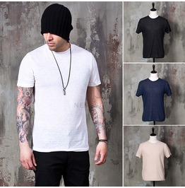 Plain Basic Round T Shirts 739