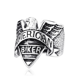Men's Punk Eagle Biker Finger Ring