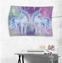 Unicorn Love Wall Tapestry Landscape