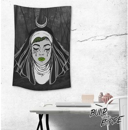 Sister Of Sin Wall Tapestry Portrait