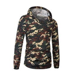 Men's Jungle Camouflage Slim Hoodies