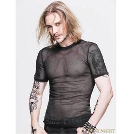 Black Gothic Net Mens Short Sleeves T Shirt Tt039