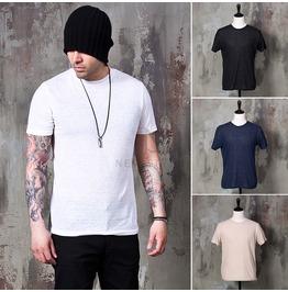 Plain Basic Round T Shirts 739