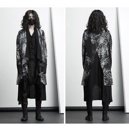 Mens Punk Gothic Cardigan Casual Coat Loose Hip Hop Cloak Outwear