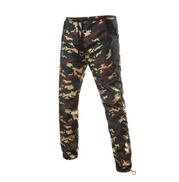 Men's Casual Drawstring Camouflage Pants With Pockets