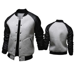 Men's Button Down Baseball Jacket With Pockets