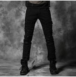 Punk Rave Men's Ripped Denim Harem Jeans K179