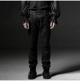 Punk Rave Men's Gothic Jacquard High Waisted Vampyr Pants K193