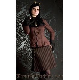 Steampunk Striped Skirt