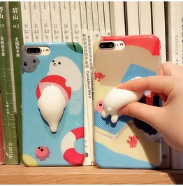 Super Cute Harajuku 3 D Soft Polar Bear Seal Iphone Case