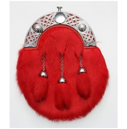 Red Rabbit Scottish Leather And Fur Sporran