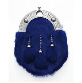 Blue Rabbit Scottish Leather And Fur Sporran
