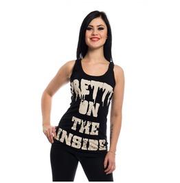 Pretty Inside Vest Cupcake Cult Gothic Slogan Tee