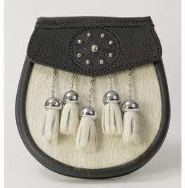 Original Goat Fur And Leather Made Scottish Celtic Kilt Sporran Custom Made