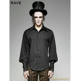 Steampunk Striped Shirt For Men Y 719