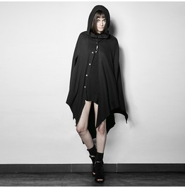 Punk Rave Women's Punk Witch Batwing Sleeve Hooded Cloak Py201