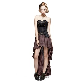 Punk Rave Steampunk High/Low Dryad Tube Dress With Waist Bag Q311