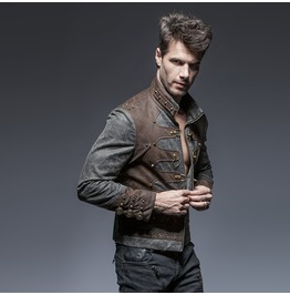 Punk Rave Men's Steampunk Aviator Jackets Y646