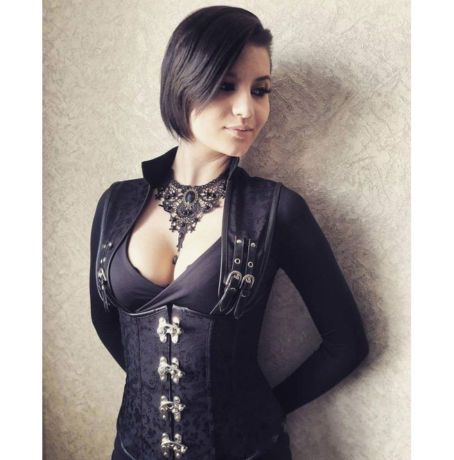 rebelsmarket_gothic_buckle_up_armor_underbust_waist_spiral_steel_boned_jacquard_corset_bustiers_and_corsets_5.jpg